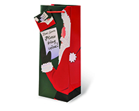 Santa, Please Bring Wine Wine Bottle Gift Bag-17499