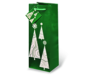 Contemporary Christmas Tree Wine Bottle Gift Bag-17501