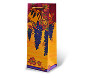 Printed Paper Wine Bottle Bag  - Autumn Vines-17516