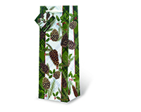 Pine Cones Wine Bottle Gift Bag-17517