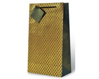 Neutral Geometric Two Bottle Wine Gift Bag-17592