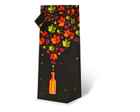 Printed Paper Wine Bottle Bag  - Autumn Leaves-17601