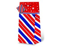 Printed Paper Wine Bottle Bag  - Stars and Stripes-17602