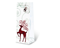 Reindeer Wine Bottle Gift Bag-17603