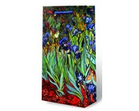 Van Gogh Irises Two Bottle Wine Gift Bag-17605