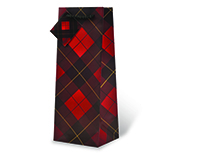 Tartan Wine Bottle Gift Bag-17606