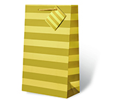 Gold Foil Stripe Two Bottle Wine Gift Bag-17613