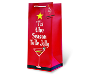 Tis The Season Wine Bottle Gift Bag-17690