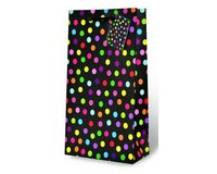 Polka Dots Two Bottle Wine Gift Bag-17699