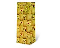 Printed Paper Wine Bottle Bag  - Mixed Drinks-17713