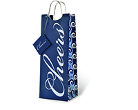 Printed Paper Wine Bottle Bag  - Cheers to You-17716