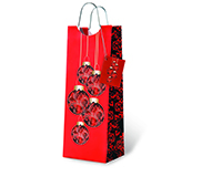Classic Christmas Wine Bottle Gift Bag-17719