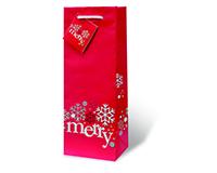 Merry Wine Bottle Gift Bag 17722