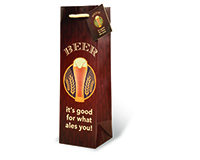 Beer - It's Good For What Ales You Wine Bottle Gift Bag-17726