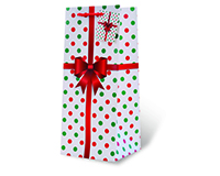 Holiday Polka Dots Wine Bottle Gift Bag 17731