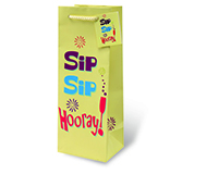 Sip Sip Hooray! Wine Bottle Gift Bag-17765