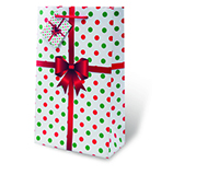 Holiday Polka Dots Two Bottle Wine Gift Bag 17774