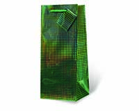 Green Foil Wine Bottle Gift Bag 17778