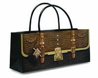 Purse Bag - Alligator Wine Bottle Gift Bag-17785