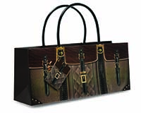 Purse Bag - Town and Country Wine Bottle Gift Bag-17786