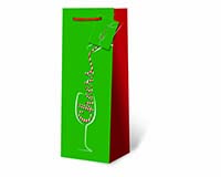 Pour Some Holiday Cheer Wine Bottle Gift Bag 17788