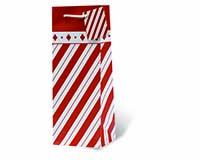 Holiday Stripes Wine Bottle Gift Bag 17804