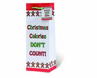 Christmas Calories Don't Count Wine Bottle Gift Bag-17826