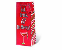 Eat, Drink, and Be Merry Wine Bottle Gift Bag-17828