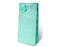 Blue Floral Two Bottle Wine Gift Bag-17847