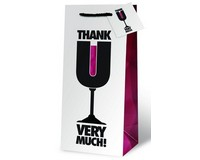 Thank U Very Much Wine Bottle Gift Bag-17852