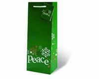 Peace Wine Bottle Gift Bag-17853