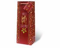 Holly Jolly Christmas Wine Bottle Gift Bag-17857