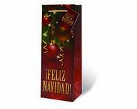 Feliz Navidad Wine Bottle Gift Bag-17879
