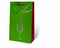 Pour Some Holiday Cheer Two Bottle Wine Gift Bag-17888
