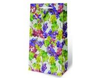 Watercolor Grapes Two Bottle Wine Gift Bag-17889