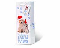 Santa Paws Wine Bottle Gift Bag-17937