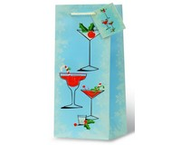 Holiday Cocktails Wine Bottle Gift Bag-17941