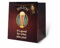 Beer - It's Good For What Ales You Wine Bottle Gift Bag-17959