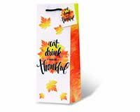Eat, Drink, and be Thankful Wine Bottle Gift Bag-17968
