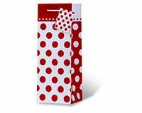 Red Polka Dots Wine Bottle Gift Bag-17970