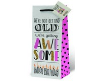 Awesome Birthday Wine Bottle Gift Bag-17976