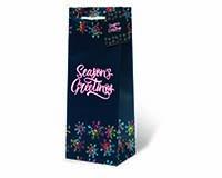 Seasons Greetings Wine Bottle Gift Bag-17979