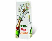 Pop Fizz Clink Wine Bottle Gift Bag-17981