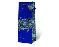 Happy Holidays Wine Bottle Gift Bag-17983