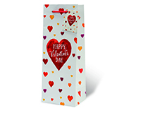 Happy Valentine's Day Wine Bottle Gift Bag-17985