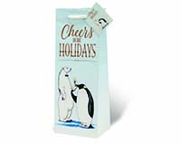 Cheers to the Holidays Wine Bottle Gift Bag-17991