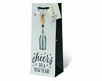 Cheers to a New Year Wine Bottle Gift Bag-17998
