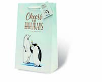 Cheers to the Holidays Two Bottle Wine Gift Bag-18000