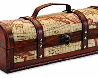 1-Bottle Laydown Wood Box-20156