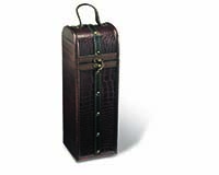 1-Bottle Standup Wood Box-20510